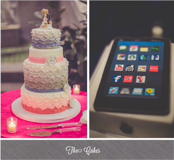 Indie Wed blog - iPad cake  & ombre cake by Tipsycakes - Photography by Kristin LaVoie Photography