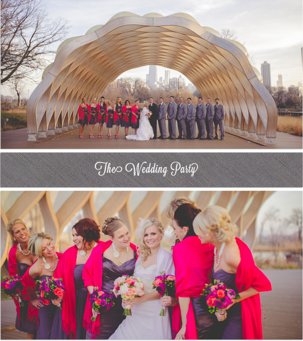 Indie Wed blog - fuchsia & purple bridesmaids - Photography by Kristin LaVoie Photography