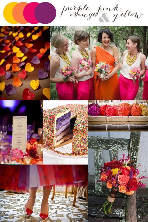 Color Crazed: Purple, Pink, Orange & Yellow – Indie Wed