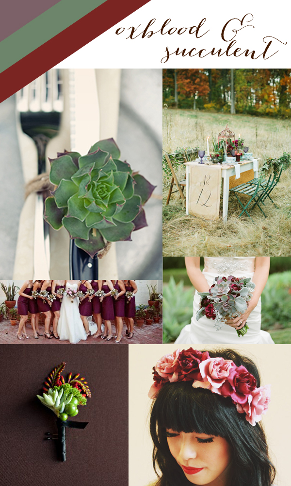 Oxblood-Succulent-Wedding