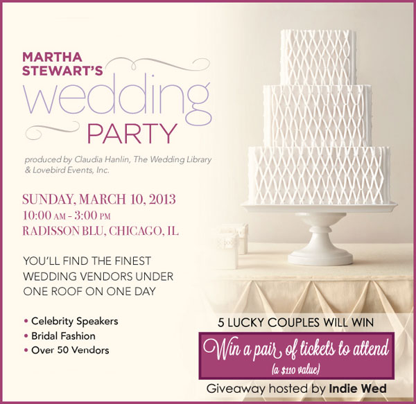 Martha Stewart's Wedding Party Giveaway