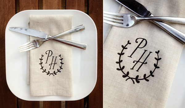 DIY napkins via Indie Wed